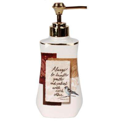 Faithful Birds Free Standing Lotion Dispenser in Multi-Color