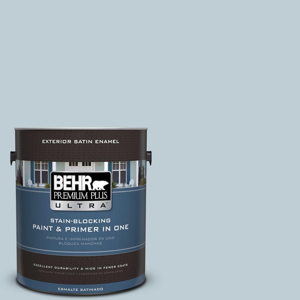 BEHR Premium Plus Ultra 1-gal. #540E-2 Cloudy Day Satin Enamel Exterior Paint