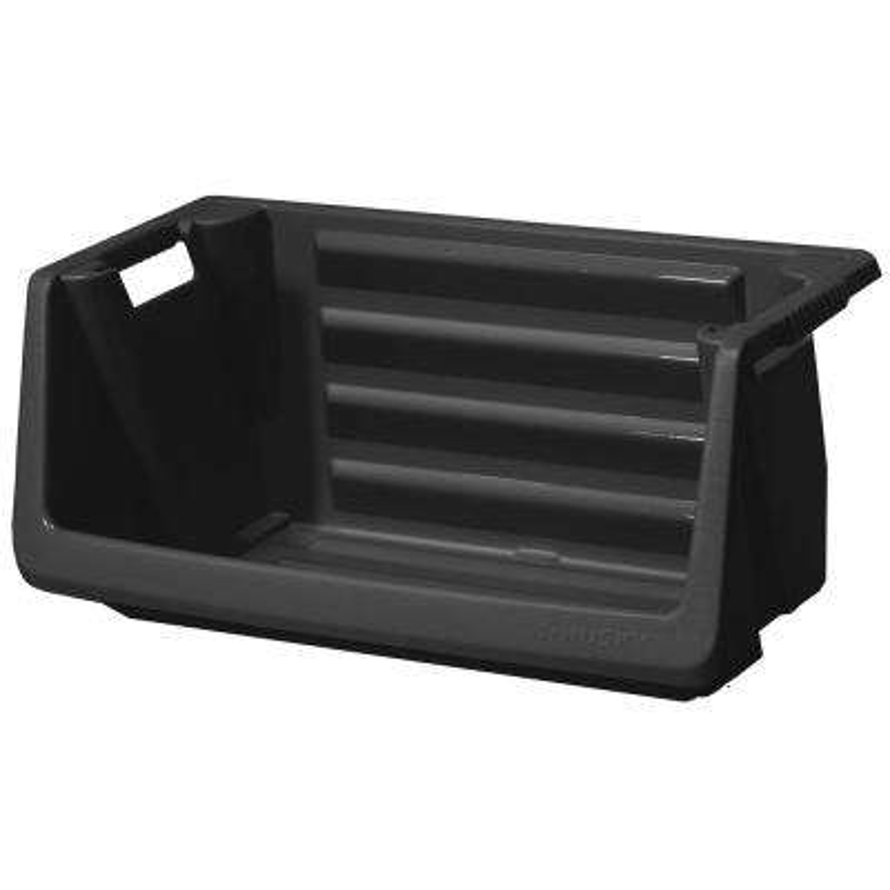 Stackable Storage Bin in Black