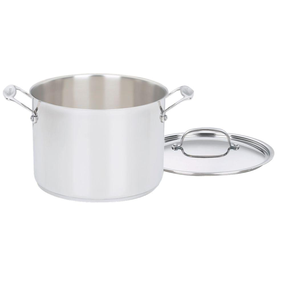 Chef's Classic 8 Qt. Stainless Steel Stock Pot with Lid