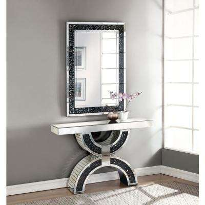 Noor Silver and Mirrored Console Table