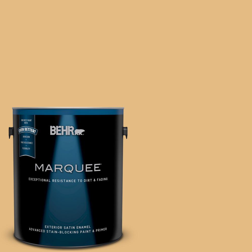 BEHR MARQUEE 1-gal. #320D-4 Arizona Tan Satin Enamel Exterior Paint ...