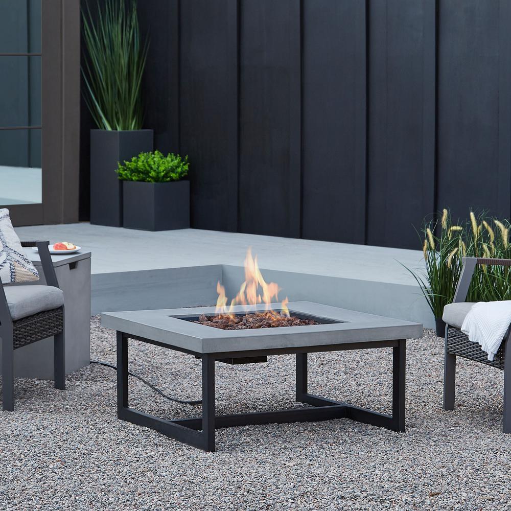 Brenner 16 in. Fiber-Concrete Propane Fire Table in Cement