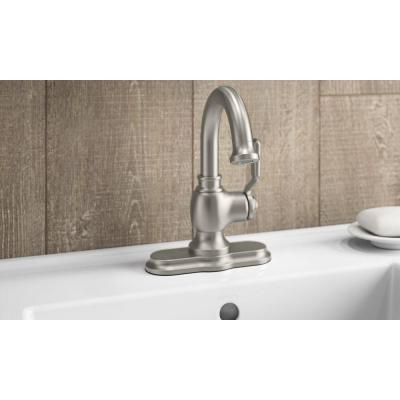 Worth Single Hole 1-Handle Bathroom Faucet in Vibrant Brushed Nickel