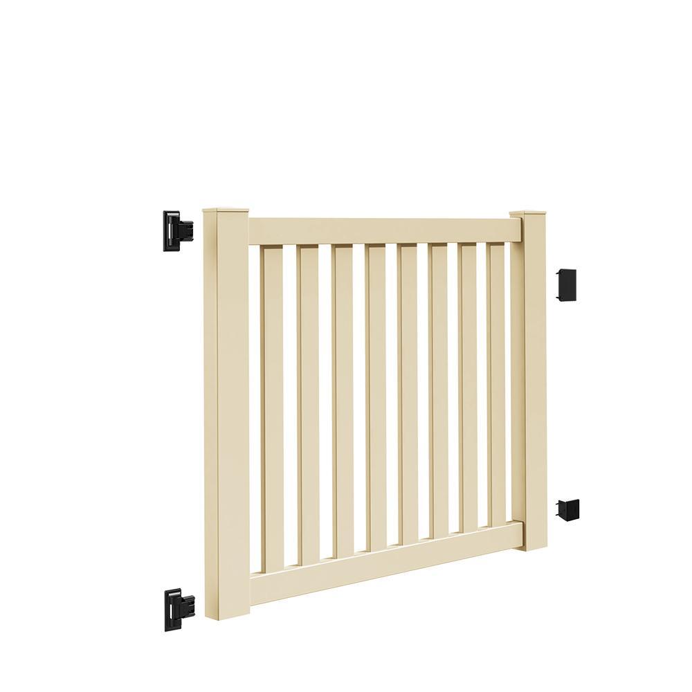 Ohio 5 ft. W x 4 ft. H Sand Vinyl Un-Assembled Fence Gate