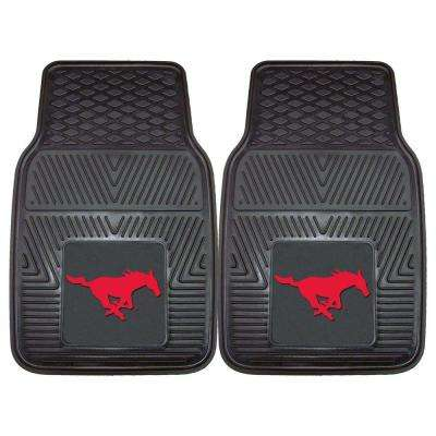 NCAA Southern Methodist University Heavy Duty 2-Piece 18 in. x 27 in. Vinyl Car Mat