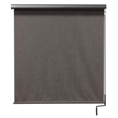 Tide Pool Cordless UV Protection PVC Outdoor Roller Shade Pole Operated With Valance 96 in. W x 96 in. L