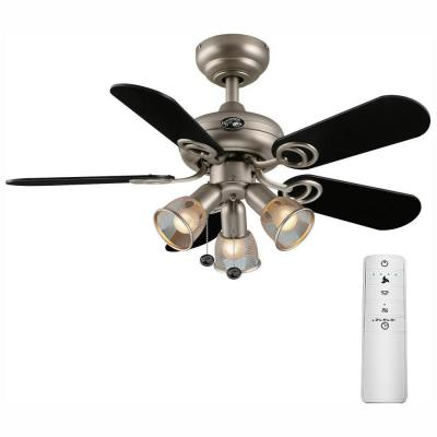 San Marino 36 in. LED Brushed Steel Smart Ceiling Fan with Light Kit and WINK Remote Control