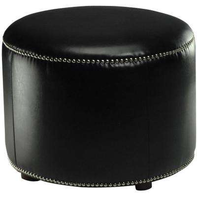 Hogan Black Accent Ottoman