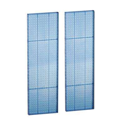 44 in. H x 13.5 in. W Pegboard Styrene in Blue (2-Piece per Box)