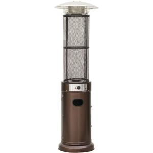 Cambridge 6 ft. 34000 BTU Bronze Cylinder Propane Patio Heater with Glass Flame Display by Cambridge
