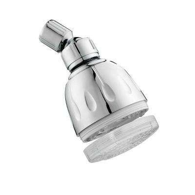 MagLED Illuminated 1-Spray 3 in. Showerhead in Brushed Nickel
