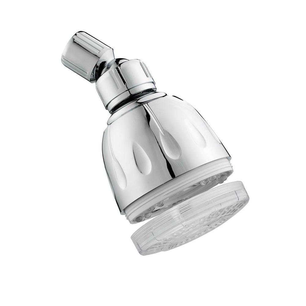 MagicShowerhead LED Illuminated 1-Spray 3 in. Showerhead in Chrome