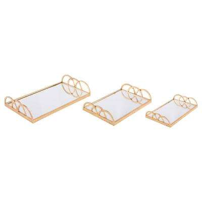 Gold Mirrored Trays (Set of 3)