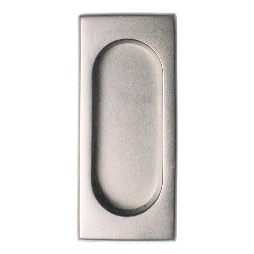 Charmant Quiet Glide 3 7/8 In. X 1 5/8 In. X 3/8 In. Satin Nickel Large Flush Pull DAFP4134U15    The Home Depot