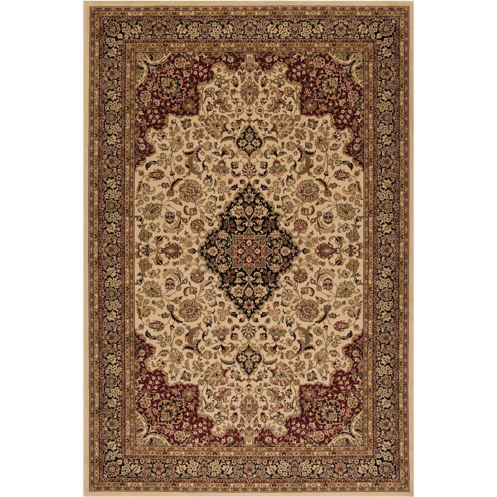 Concord Global Trading Persian Clics Medallion Kashan Ivory 7 Ft X 10 Area Rug 20826 The Home Depot