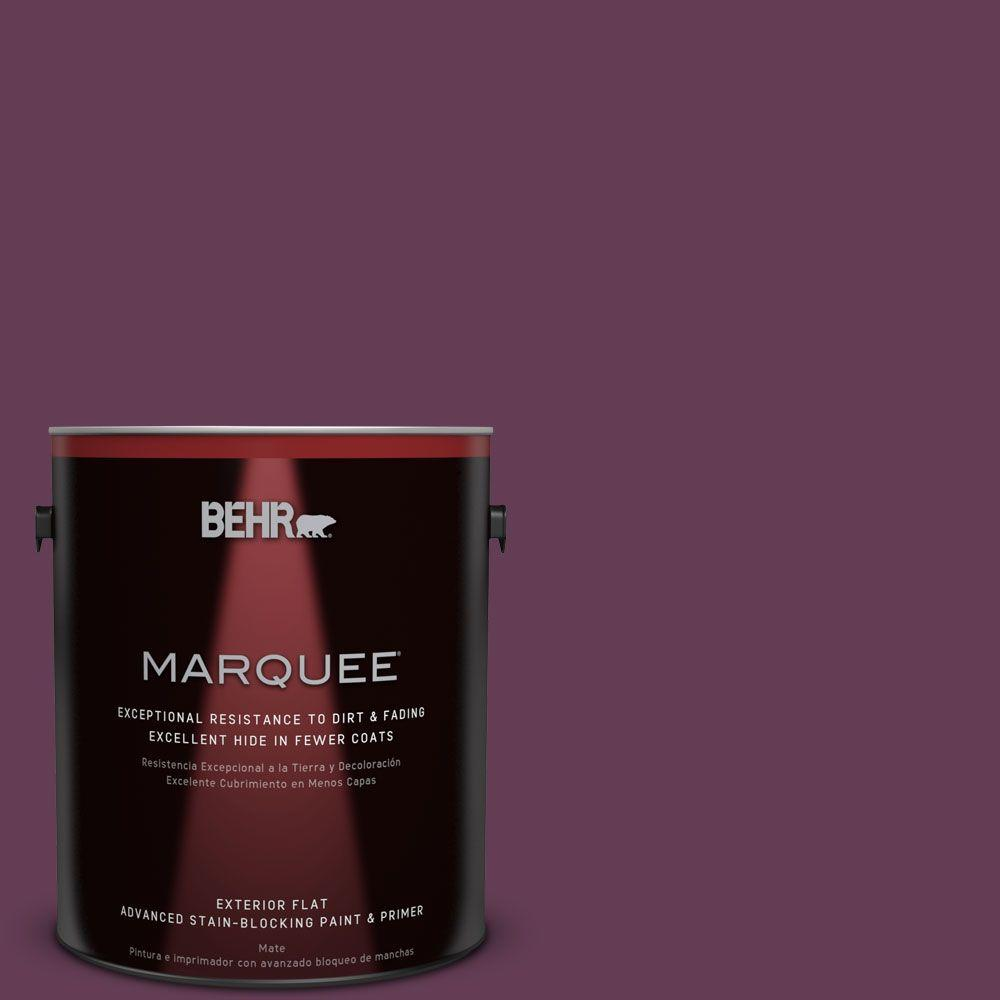 1-gal. #S-G-690 Delicious Berry Flat Exterior Paint