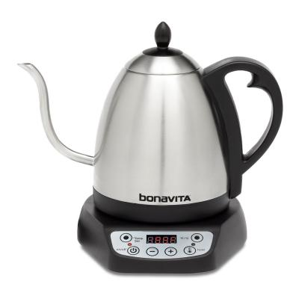 Bonavita 4.2-Cup Variable Temperature Silver Electric Kettle