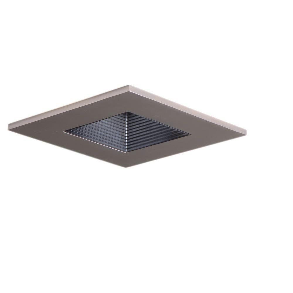 Halo 3 In Satin Nickel Recessed Ceiling Light Square Adjule Baffle Trim