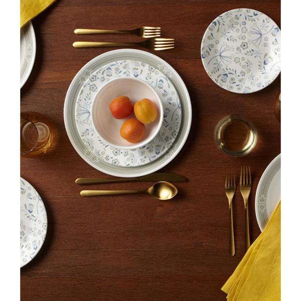 Classic 16-Piece Casual Prairie Garden Gray Glass Dinnerware Set (Service for 4)