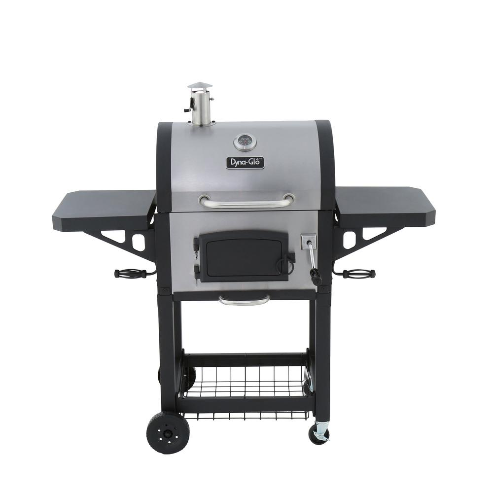 Dyna Glo Heavy-Duty Charcoal Grill in Black and Stainless Steel DGN405SNC-D