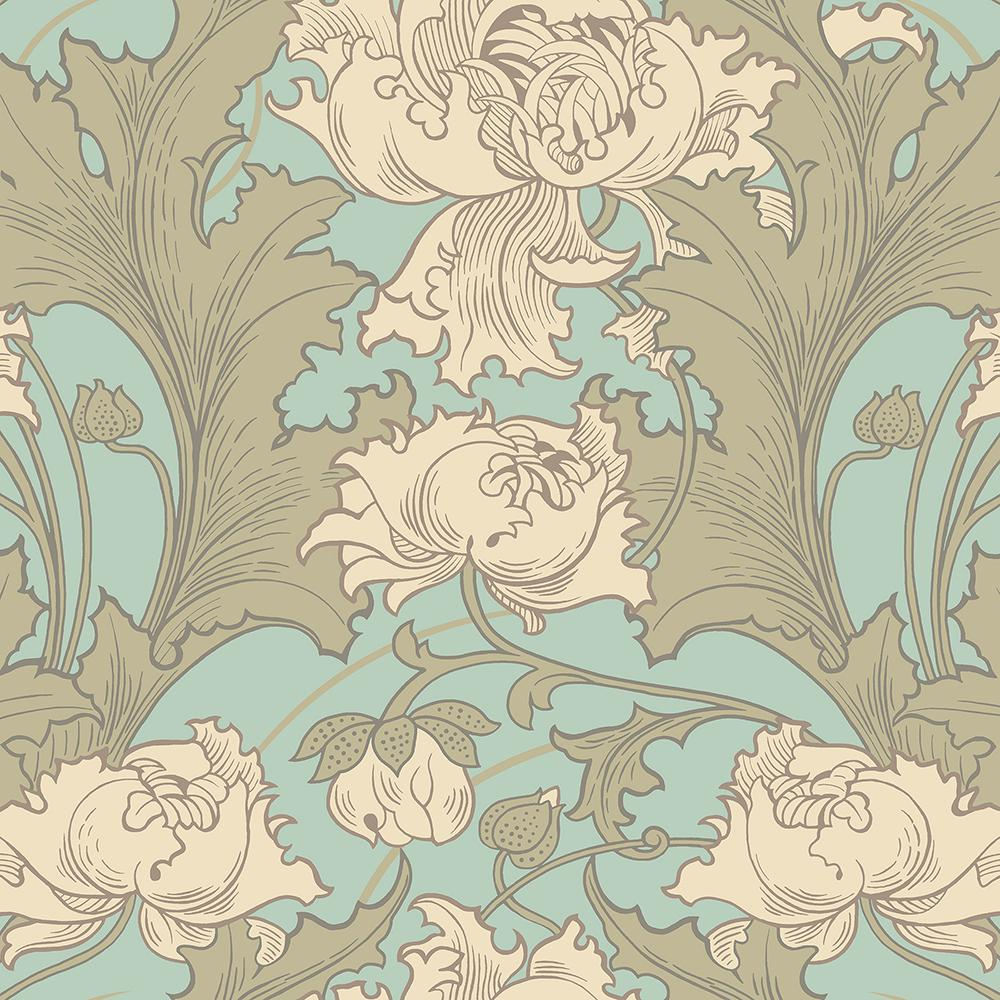 Wall Vision Siri Turquoise Floral Wallpaper Sample 2827 4538sam