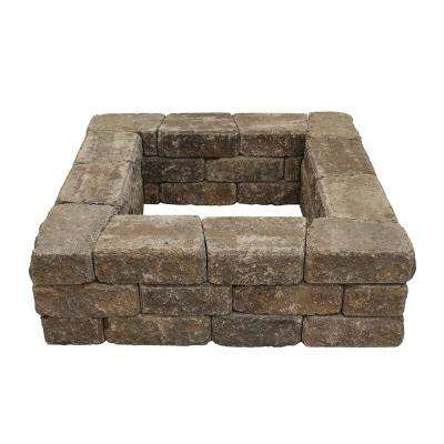 Romanstack 39 in. x 17 in. Concrete Fire Pit Wall Kit in Northwest Blend