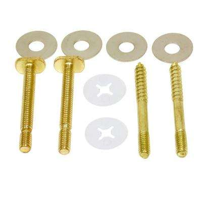 1/4 in. Brass Plated Bolt and Screw Set