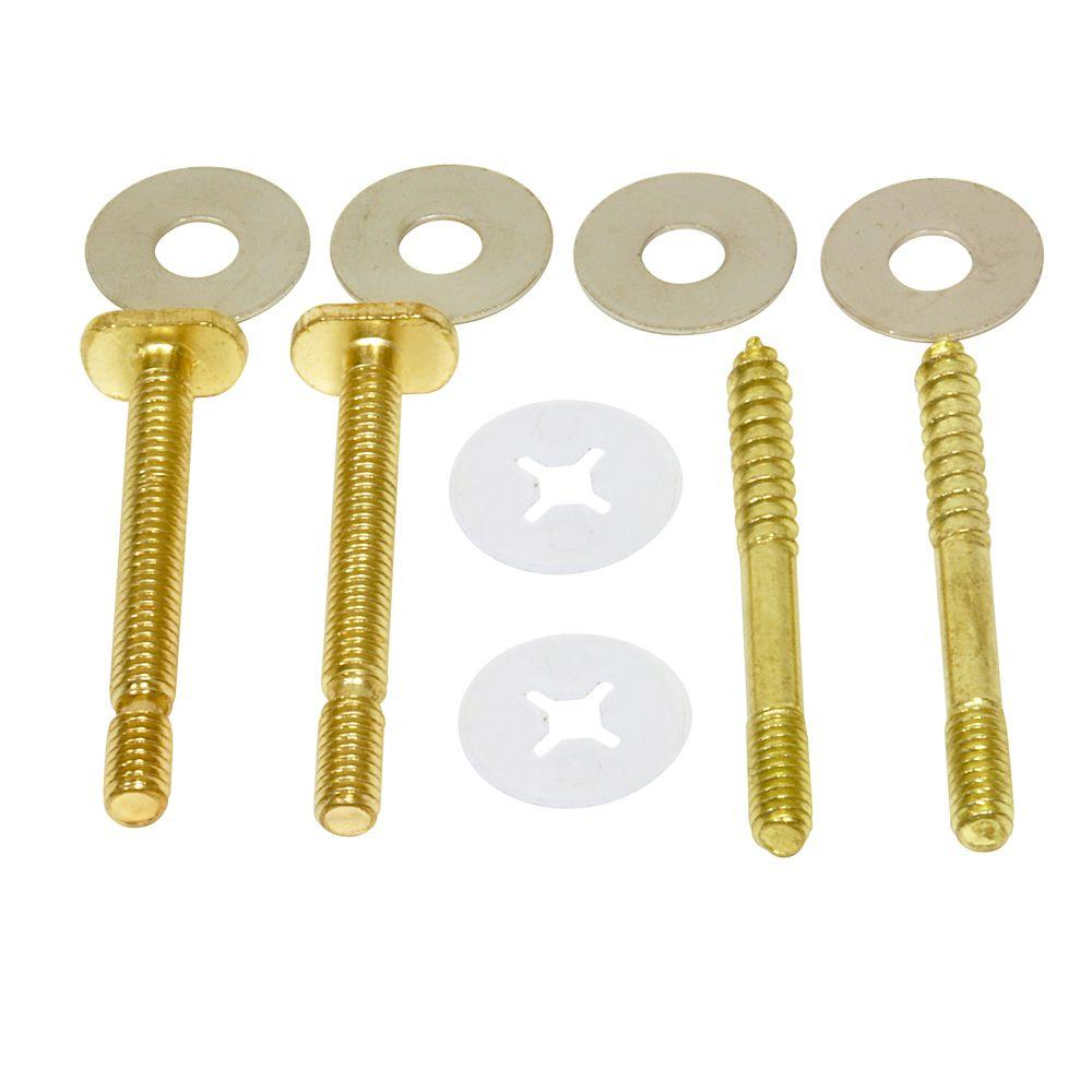 Everbilt 1/4 in. Brass Plated Bolt and Screw Set