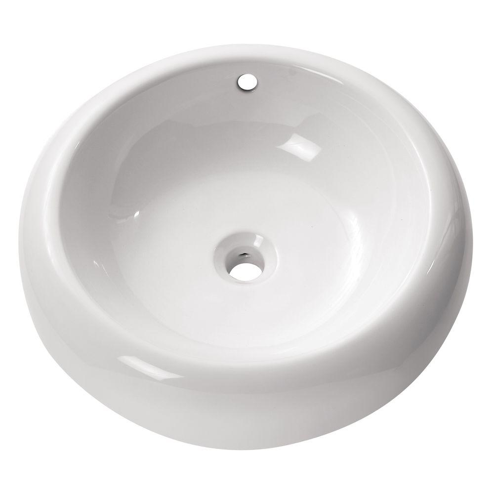 Wonderful Avanity Above Counter Vessel Sink In White