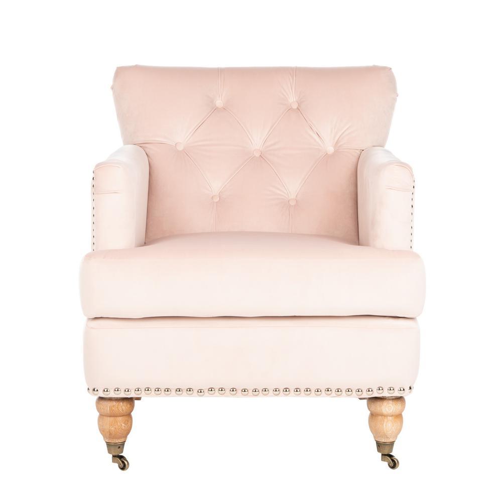 Safavieh Colin Blush Pink/White Wash Accent Chair HUD8212L
