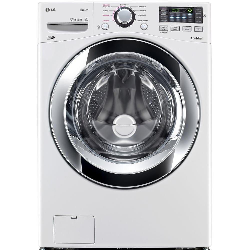 LG Electronics 4.3 cu. ft. High-Efficiency Front Load Washer with Steam in White, ENERGY STAR