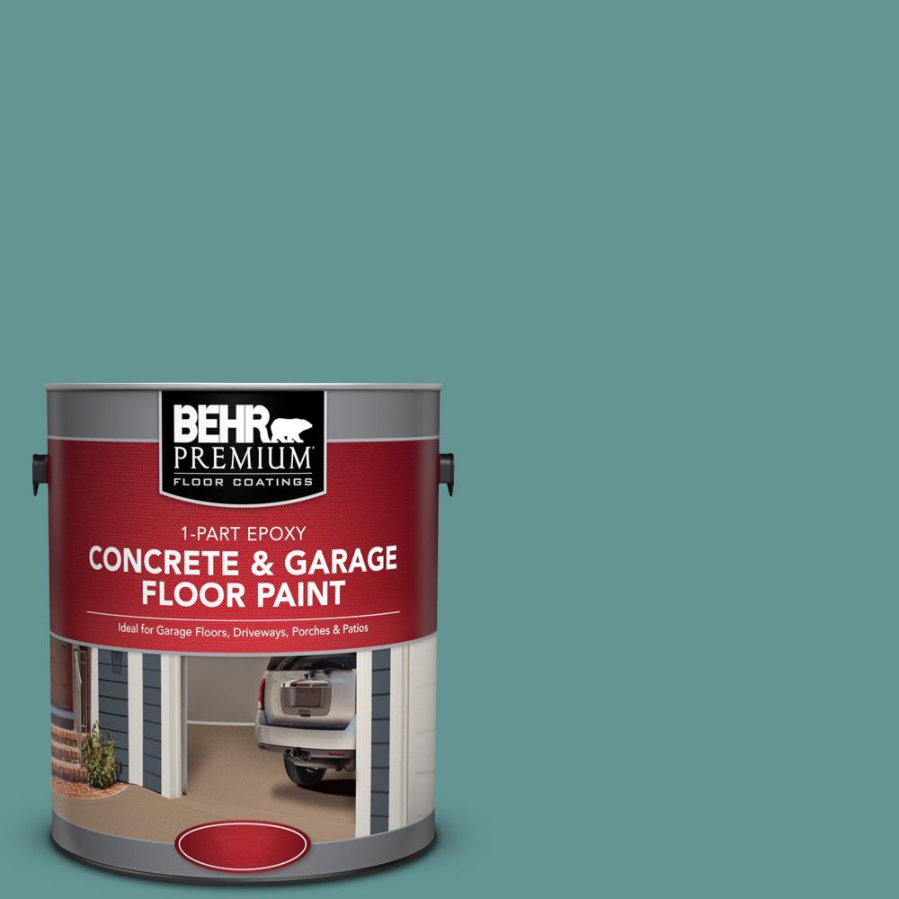 1 gal. #PFC-48 Aqua Marble 1-Part Epoxy Concrete and Garage Floor Paint