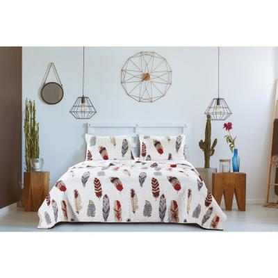 Dream Catcher 3-Piece Full/Queen Gold Quilt Set