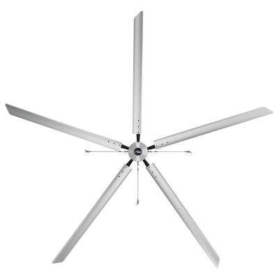 Titan 18 ft. 220-Volt Indoor Anodized Aluminum 3 Phase Commercial Ceiling Fan