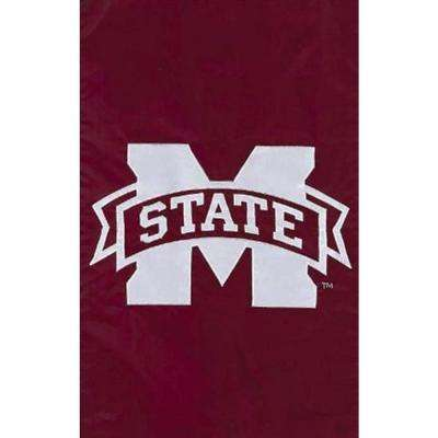 NCAA 12-1/2 in. x 18 in. Ole Miss State 2-Sided Garden Flag