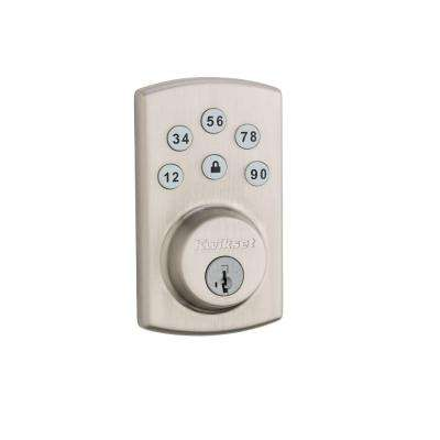 Powerbolt2 Single Cylinder Satin Nickel Electronic Deadbolt Featuring SmartKey