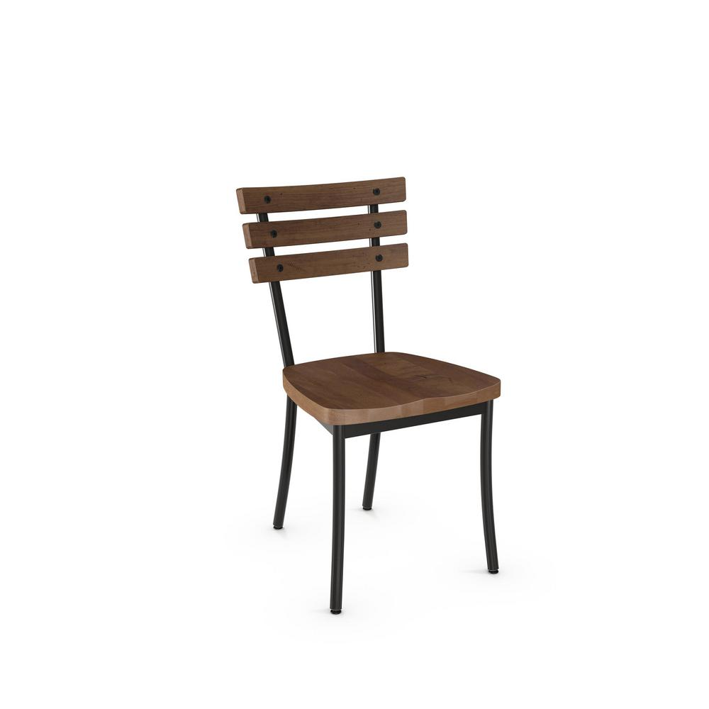 Amisco dock semi transparent with medium brown wood seat 2 seat dining set