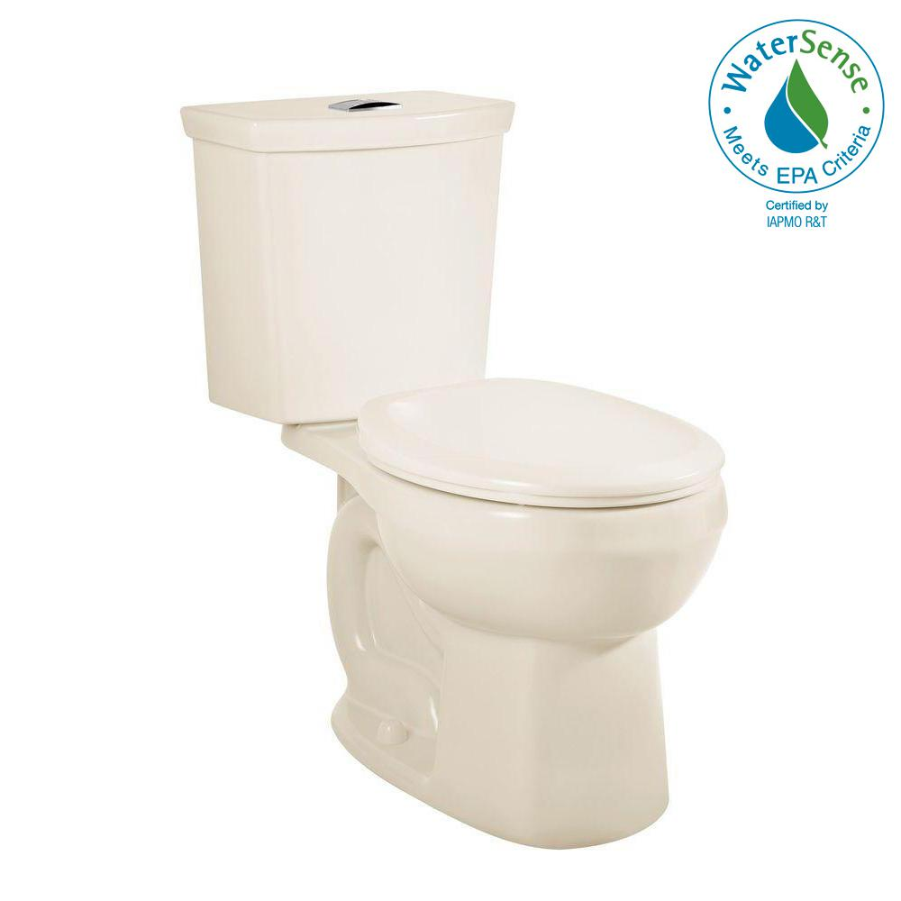 H2Option 2-Piece 0.92/1.28 GPF Dual Flush Round Front Toilet in Linen,