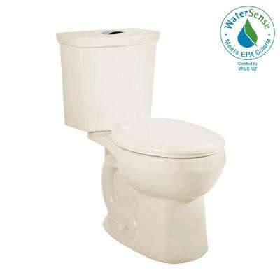 H2Option 2-Piece 0.92/1.28 GPF Dual Flush Round Front Toilet in Linen, Seat Not Included