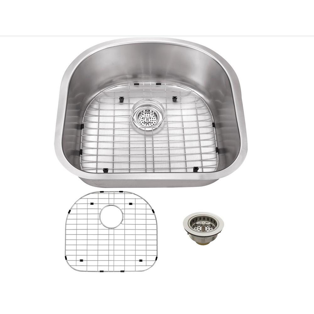 IPT Sink Company Undermount 23 in. 16 Gauge 0 hole Stainless Steel Single bowl Kitchen Sink in Brushed Stainless, Brushed Satin was $186.25 now $139.0 (25.0% off)