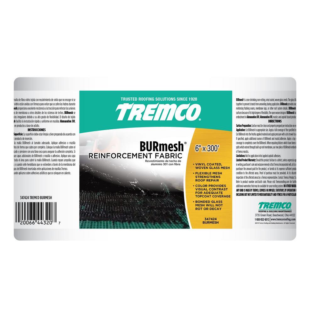 Tremco 6 In X 300 Ft Burmesh Roof Fabric Roll 347424