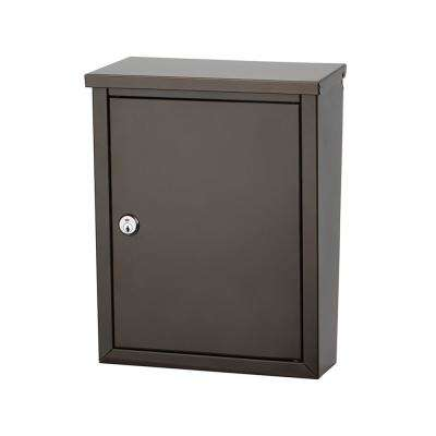 Chelsea Graphite Bronze Locking Wall Mount Mailbox