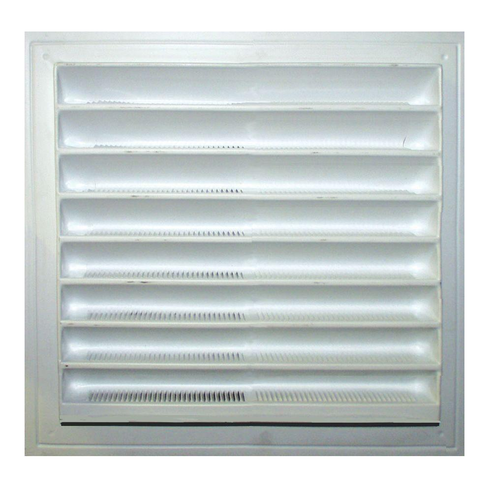 Master Flow 12 In X 12 In Plastic Wall Louver Static