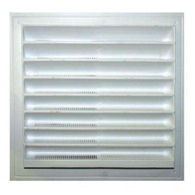 12 in. x 12 in. Plastic Wall Louver Vent in White