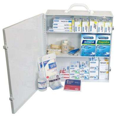 694-Piece Industrial 3-Shelf First Aid Station/Cabinet - 50 Person
