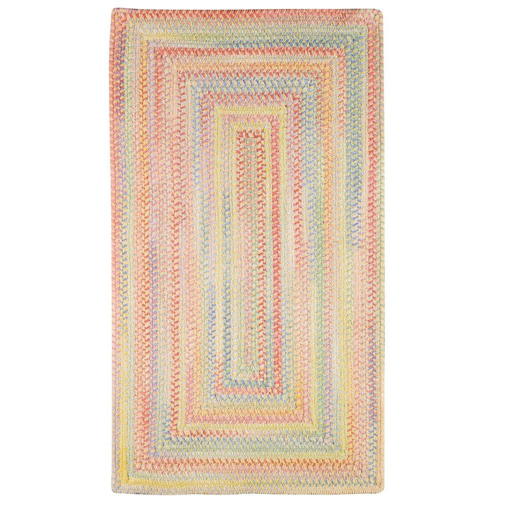 Capel Country Grove Concentric Buttercup 3 ft. x 5 ft. Area Rug