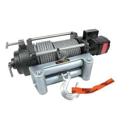 12,000 lb. Capacity H12000 Permanent Hydraulic Winch with 100 ft. Steel Cable