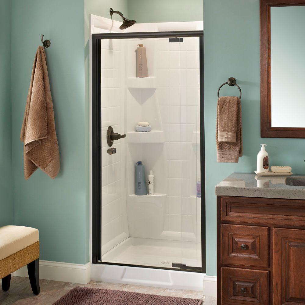 Delta Mandara 36 In X 66 In Semi Frameless Pivot Shower