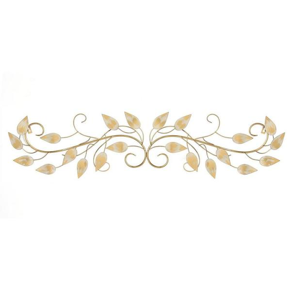 Homeroots Brushed Gold Over The Door Metal Wall Decor 321209 The Home Depot